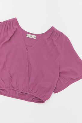Urban Outfitters Kendra Surplice Cropped Blouse