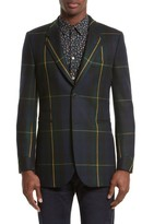 Paul Smith Men's Tartan Long Sport Coat