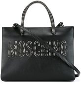 Moschino studded logo tote
