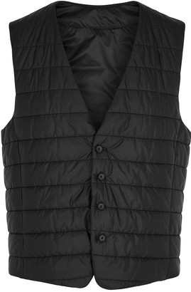 BOSS Hiwan black quilted shell gilet