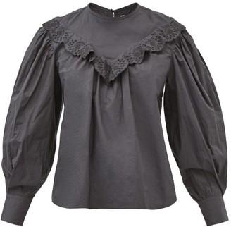 Etoile Isabel Marant Ounissa Lace-trimmed Yoke - Black