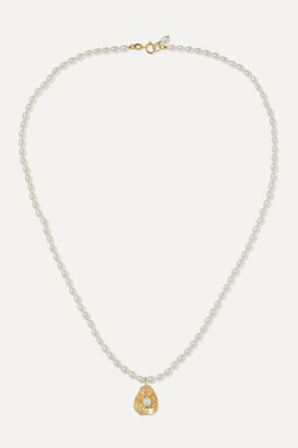 Poppy Finch 14-karat Gold Pearl Necklace