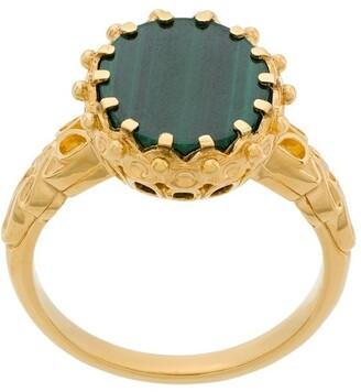 Astley Clarke Malachite Large Floris Ring