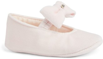 Bimbalo Bow-Detail Velour Soft Shoes