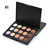 Pure Vie 15 Colors Concealer Camouflage Makeup Palette Contouring Kit #1 for Salon and Daily Use