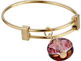 Alex and Ani Antique Pink Swarovski Crystal Expandable Ring