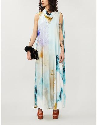 Roksanda Leesha abstract-print silk gown