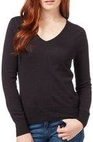 Wool Overs WoolOvers Womens Silk and Cotton Long Sleeve V Neck Knitted Sweater , XL