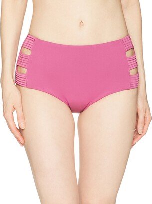 Seafolly Women's Quilted High Waisted Bikini Bottom Swimsuit