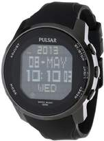 Pulsar Men's PQ2011 Stainless Steel Digital Watch with Polyurethane Band