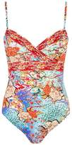 Gottex Cross Front Printed Swimsuit