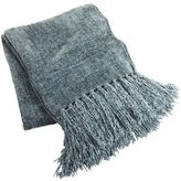 Pier 1 Imports Smoke Blue Chenille Throw