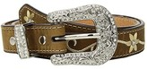 M&F Western Embroidered Floral Belt (Little Kids/Big Kids) (Medium Brown) Women's Belts