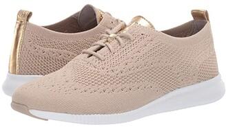 Cole Haan 2.Zerogrand Stitchlite Oxford (Rye Knit/Optic White) Women's Shoes