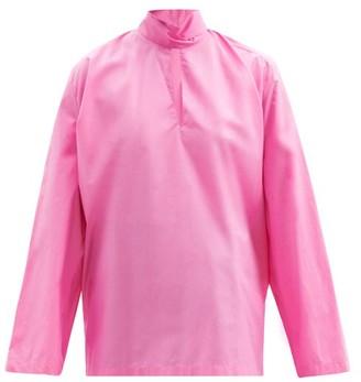 Balenciaga Tie-neck Cotton-poplin Blouse - Pink