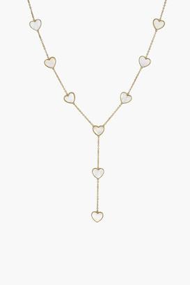 Asha Heart Lariat Necklace