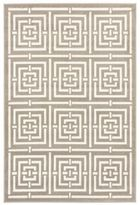 Liora Manné Geometric Maze 3-Foot 3-Inch x 4-Foot 11-Inch Accent Rug in White/Grey