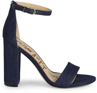 Sam Edelman Yaro Denim d'Orsay Block Heel Sandals