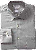 Van Heusen Men's Lux Sateen Fitted Solid Spread Collar Dress Shirt