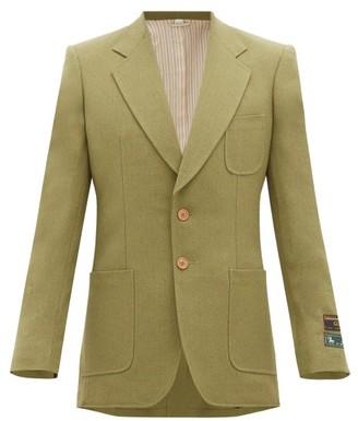 Gucci Single-breasted Slubbed Wool-blend Twill Blazer - Green