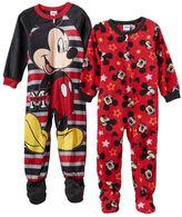 Disney Disney's Mickey Mouse Toddler Boy 2-pk. Footed Pajamas