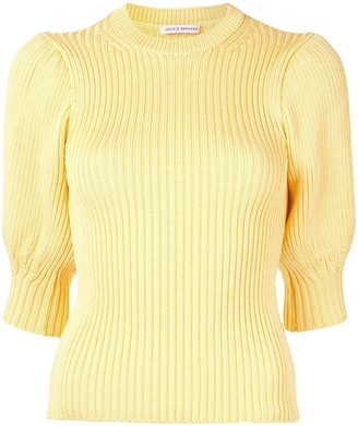 Cecilie Bahnsen Ribbed Knitted Top