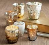 Pottery Barn Eclectic Mercury Votives, Set of 6 - Silver