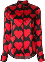 Philipp Plein heart motif shirt