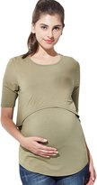Sweet Mommy Maternity and Nursing Bamboo Layered Top CHS