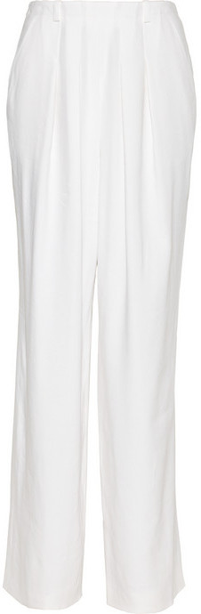 Chloé Ramie-blend wide-leg pants