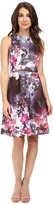 Adrianna Papell Placed Print Fit & Flare Scuba Dress