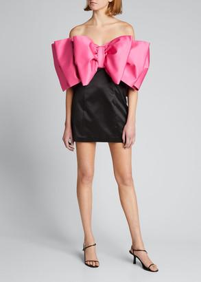 Rotate by Birger Christensen Natalie Strapless Bow Dress