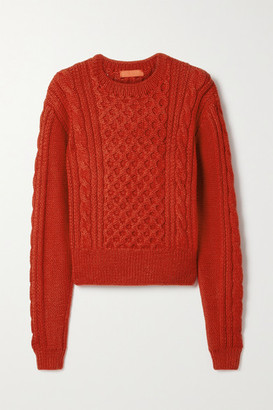 Commission Cable-knit Alpaca Sweater - Red