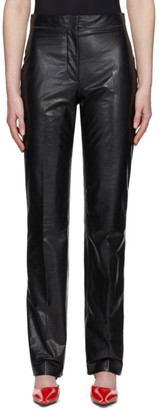 Acne Studios Black Pressed Leather Trousers