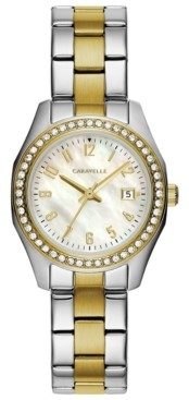 Caravelle Designed by Bulova Women's Two-Tone Stainless Steel Bracelet Watch 28mm