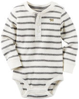 Carter's Striped Henley Bodysuit