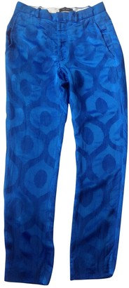 Isabel Marant Blue Viscose Trousers