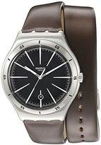 Swatch Men's YWS409 Analog Display Swiss Quartz Brown Watch