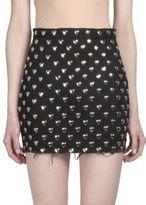 Saint Laurent Studded Fitted Skirt