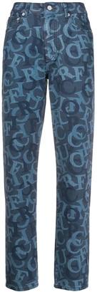 Fiorucci Tara logo jacquard jeans