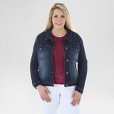 Crafted by Lee Women's Plus Size Jean Jacket Dark Denim