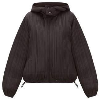 Pleats Please Issey Miyake Reversible Hooded Plisse Jacket - Womens - Black