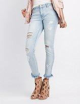 Charlotte Russe Refuge Frayed Hem Skinny Jeans