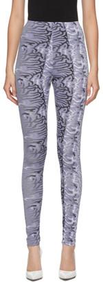 MAISIE WILEN Purple Abstract Body Shop Leggings