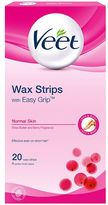 Veet Wax Strips with Easy Grip Normal Skin Shea Butter and Berry Fragrance 20 Wax Strips