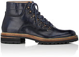 Harris Men's Leather Hiking Boots-NAVY