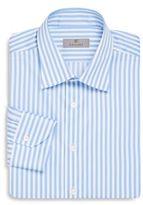 Canali Modern-Fit Striped Cotton Dress-Shirt