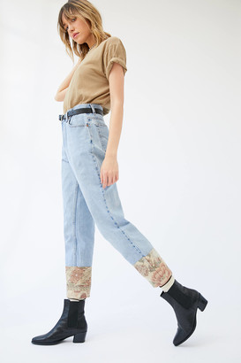Urban Renewal Vintage Recycled Levi's Tapestry Cuff Blue Jean