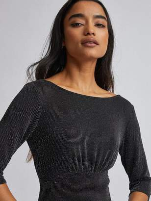 Dorothy Perkins PetiteLurex Midi Dress - Black