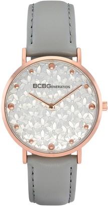 Bcbgeneration BCBGeneration Women's Rosetone Floral Dial GrayStrap Watch